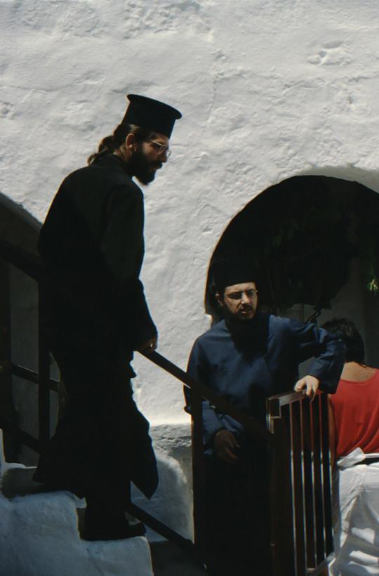 Patmos, Johanneskloster, Mönche