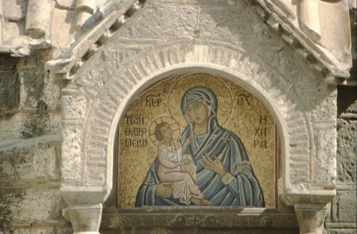 Athen, Mosaik: Madonna
