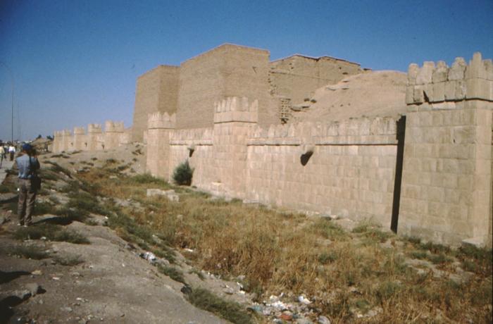Ninive, antike Stadtmauer