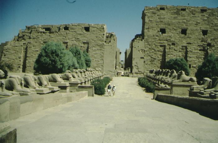 Karnak, Tempel von Westen