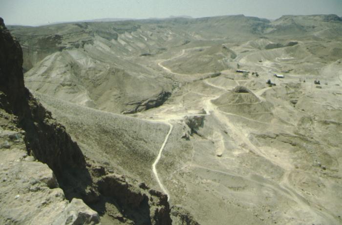 Masada, römische Rampe
