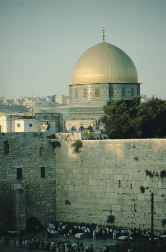 Jerusalem, Felsendom und Klagemauer
