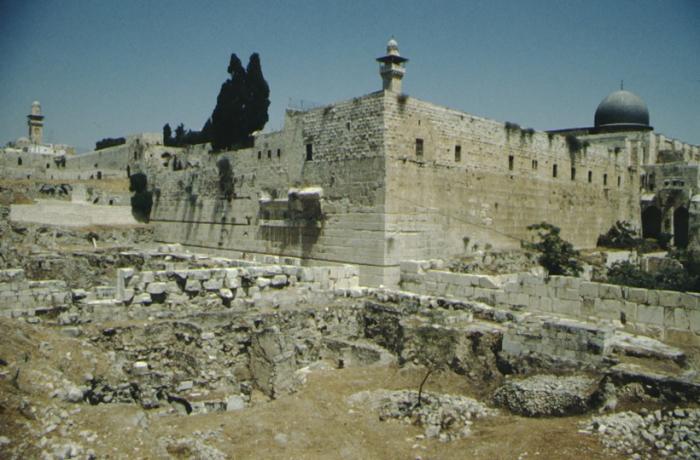 Jerusalem, Tempelberg von Südwest