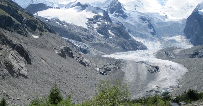 Morteratsch-Gletscher, Pontresina, Oberengadin 2011