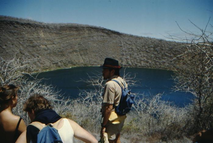 Reiseleiter Kratersee, Isabela, Galapagos August 1989