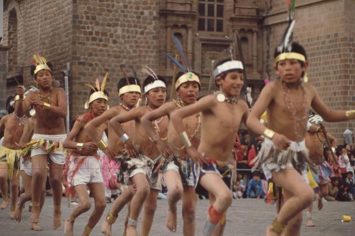 Festumzug, Cusco, Peru, 27. 8. 1989