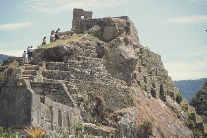 Intihuatana + Tempelberg, Machu Picchu, Peru