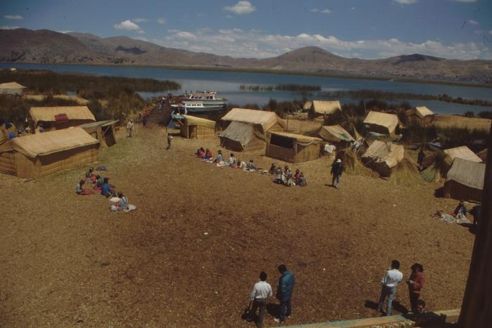 Uru-Insel, Dorfplatz, Titicaca-See, Peru