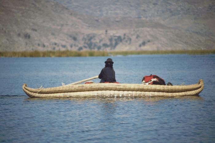 Schilf-Boot, Titicaca-See, Peru