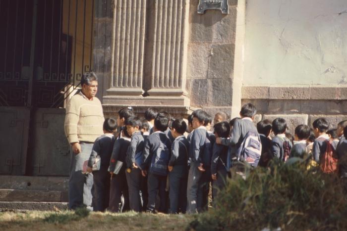 Schulkinder, Cusco, Peru