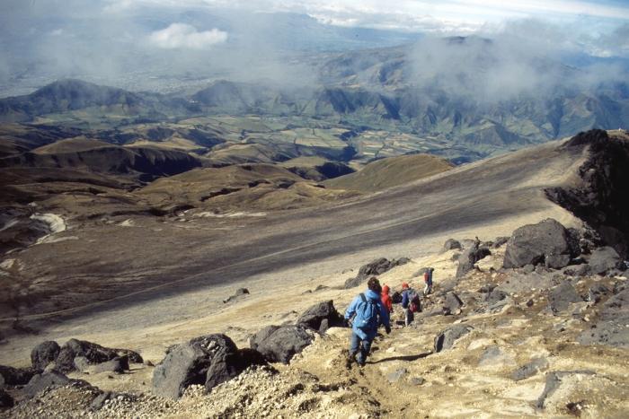 Vulkan Pichincha, Kraterrand